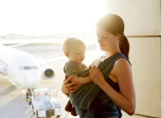 : flying with a baby, flying with a baby, traveling with a baby on a plane tips, traveling with a baby on a plane tips, traveling with a baby checklist, traveling with a baby checklist, traveling with a baby hacks, traveling with a baby hacks,