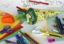 back to school supplies for kindergarten