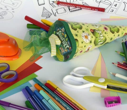 back to school supplies for kindergarten